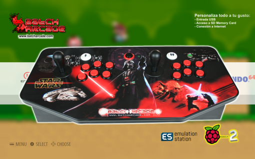 CONSOLA RETRO BATCH ARCADE MADRID V3 STAR WARS 2 MASTER