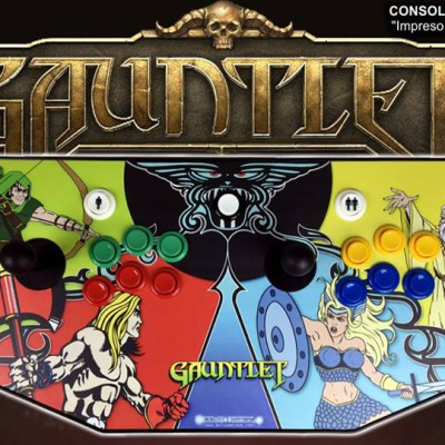 CONSOLA-MANDO-RETRO-BATCH-ARCADE-MADRID-GAUNTLET-VINTAGE-000-M
