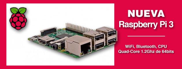 Raspberry Pi 3 Modelo B con 'wifi' y 'bluetooth'