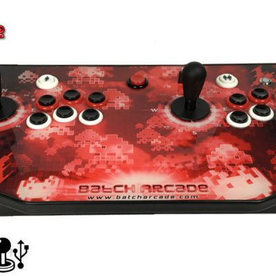 CONSOLA-DUAL-V3-MANDO-JOYSTICK-BATCH-ARCADE-MADRID-SPACE-INVADERS-1