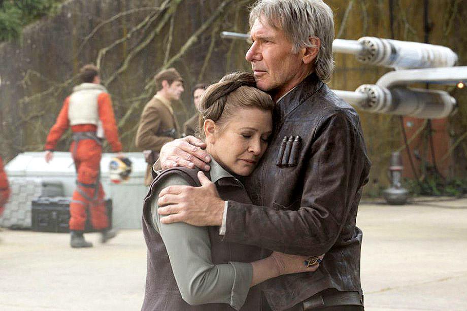 Reencuentro Princesa Leia y Han Solo