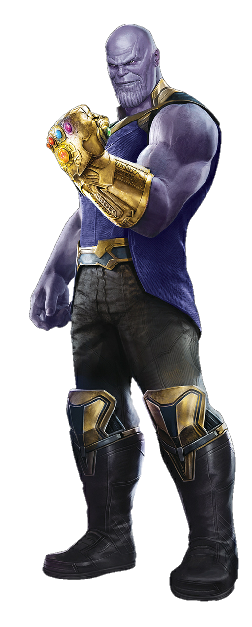 "Thanos, principal villano del film ""Avengers Infinity War"""