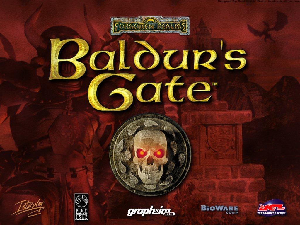 Baldur's Gate 1998 portada
