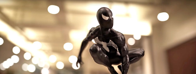 Spider-Man con Symbiote recreado con un bolígrafo 3D